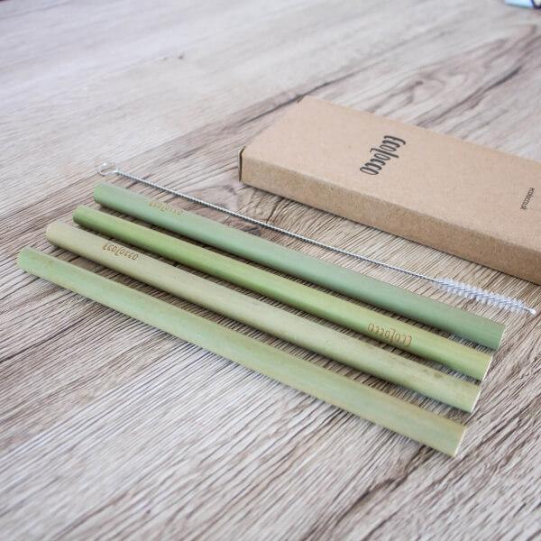 Bambusové eko slamky