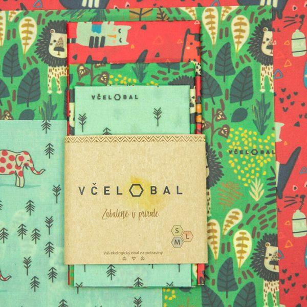 Voskový obrúsok –Včelobal Zvieratká set