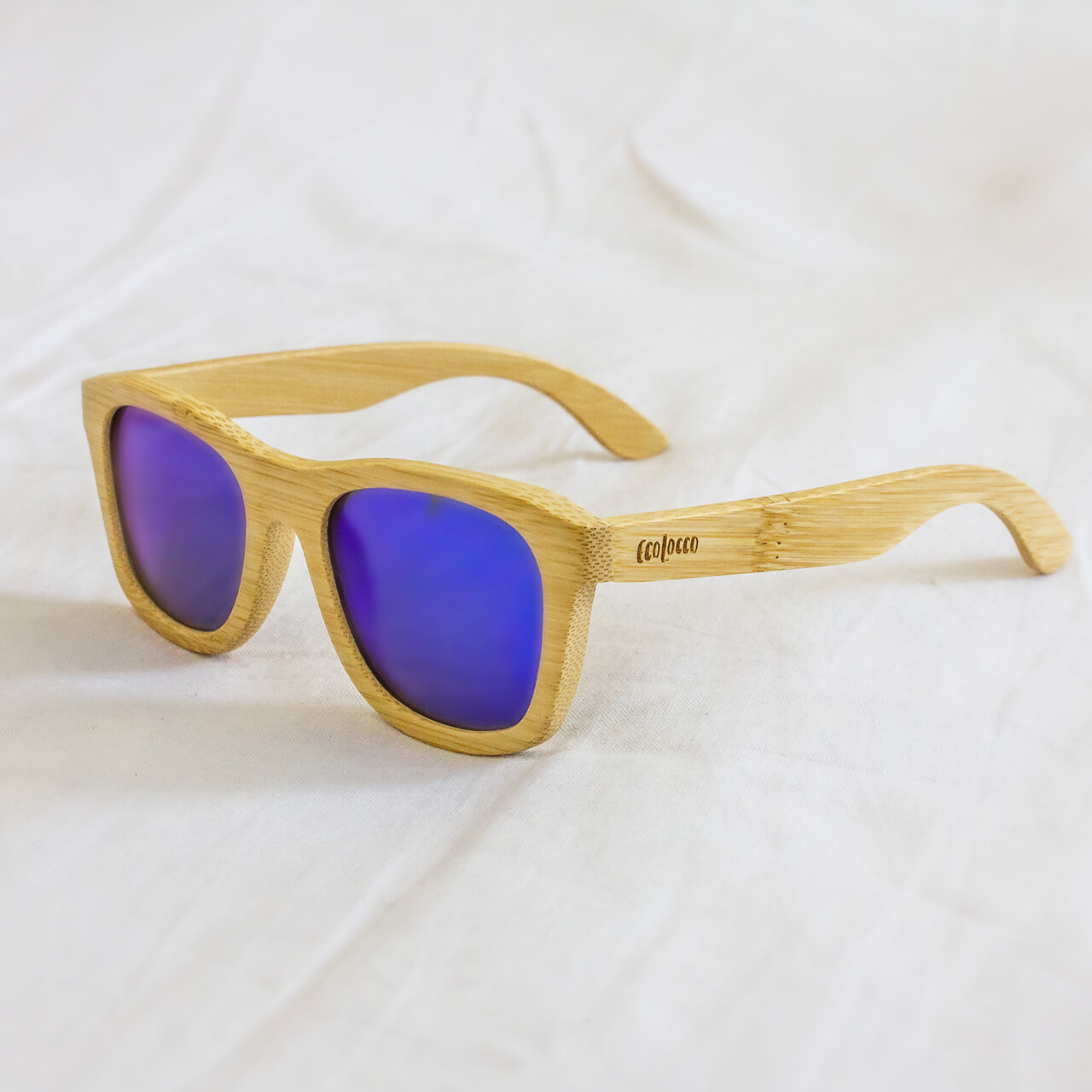 Bambusové slnečné okuliare modré