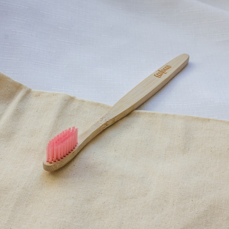 Lososová bambusová zubná kefka –Jemná