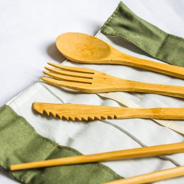 Bambusový ekologický príbor