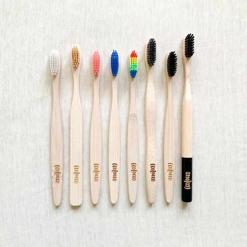 Bambusové zubné kefky ecolocco