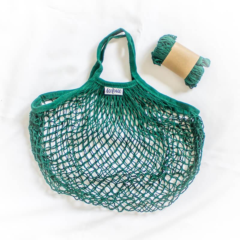 Nákupná sieťová taška –tmavozelená