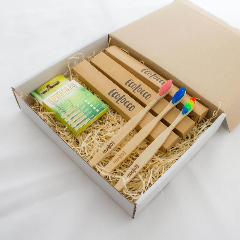 Darčekový set bambusových kefiek