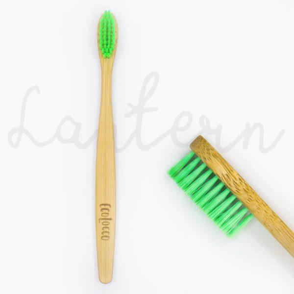 Zelená bambusová zubná kefka – Jemná