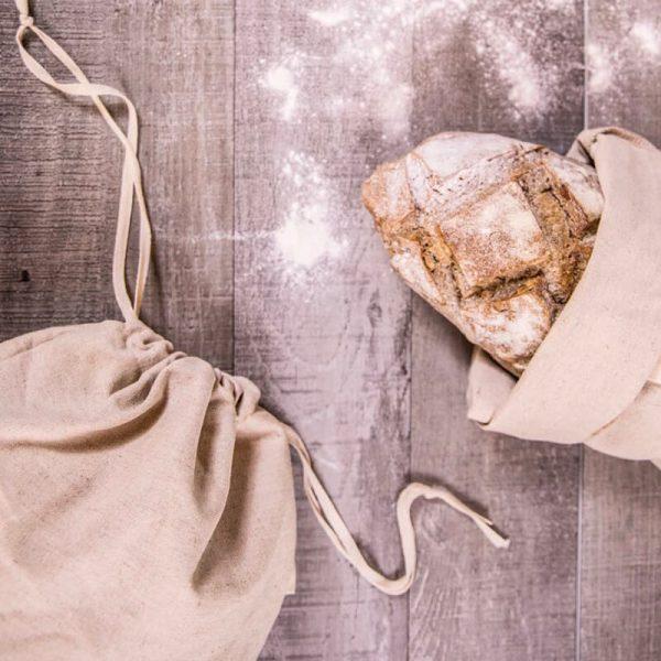 Plátené bavlnené nákupné vrecko a taška