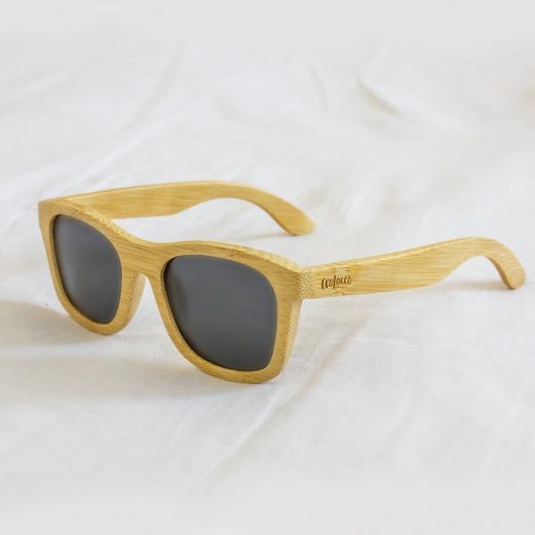 """Výpredaj: Bambusové slnečné okuliare s polarizačnými sklami """"Midnight"""""""