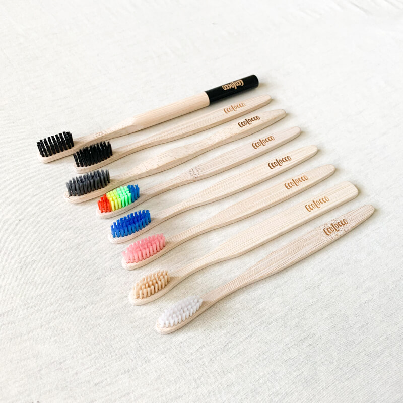 Modrá bambusová zubná kefka – Jemná