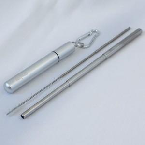 Skladacia kovová slamka –rozložená