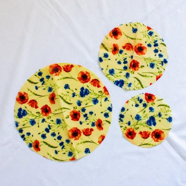 Kruhový voskový obal –včelí obrúsok na potraviny