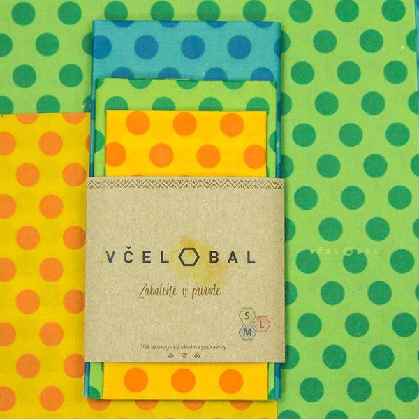 Voskový obrúsok –Včelobal Bodkový minimal set