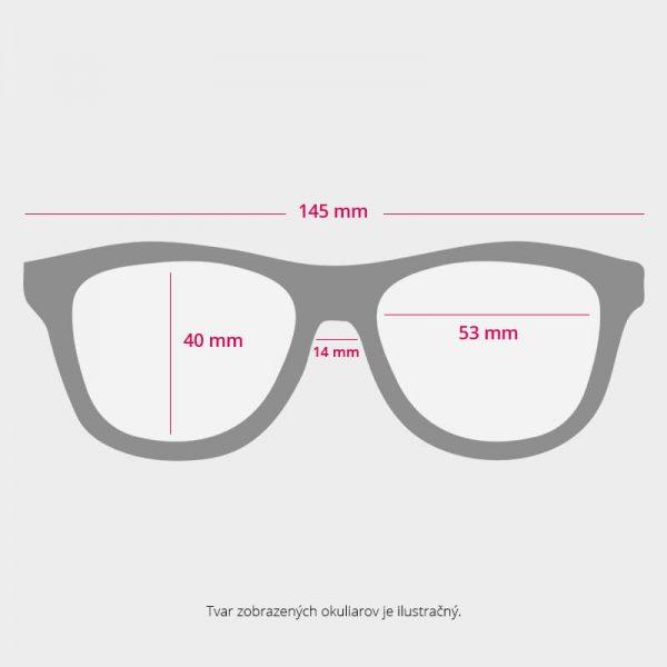 Bambusove okuliare - rozmery