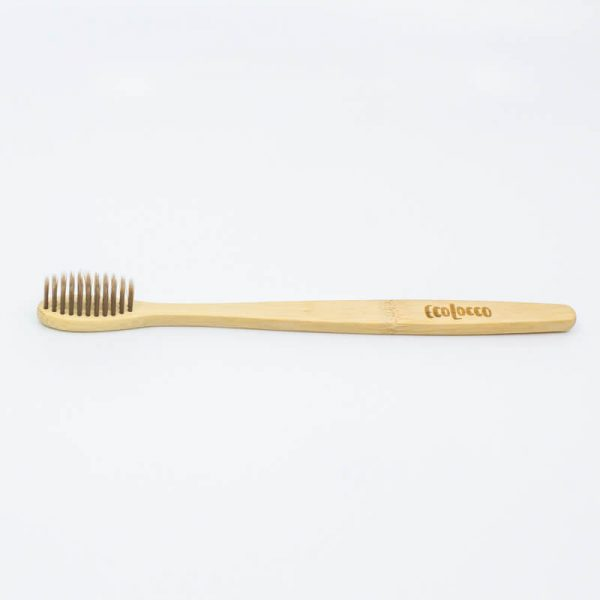 Bambusová zubá kefka - extra jemná - hnedá