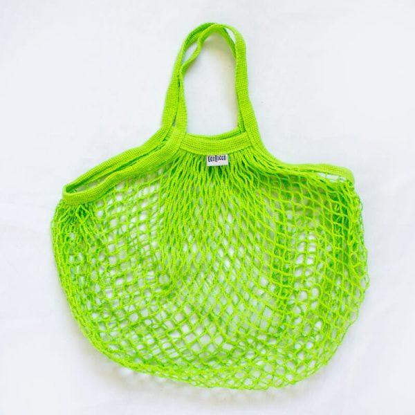 """Nákupná EKO bavlnená sieťová taška """"sieťovka"""" –zelená"""