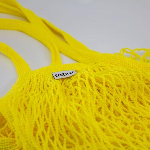 """Nákupná EKO bavlnená sieťová taška """"sieťovka"""" –žltá"""