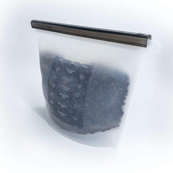 Silikónové uzatvárateľné vrecko na potraviny